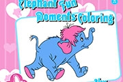 Elephant Fun Moments Coloring
