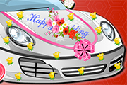 Elsa Wedding Car Decoration
