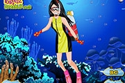 Fashion Girl Diving Dress Up