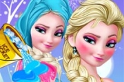 얼어 붙은 Elsa Ice Bucket Makeover