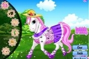 Poney heureux dress up
