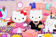 Hello Kitty的婚宴清理