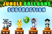 Soustraction de ballons de la jungle