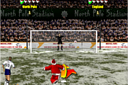 Santa's penalty kick world cup