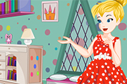 Tinkerbell Polka Dots Bedroom